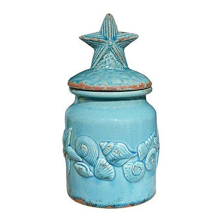 Pote Estrela do Mar em Cerâmica