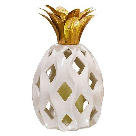 Abacaxi Decorativo Grande em Cerâmica