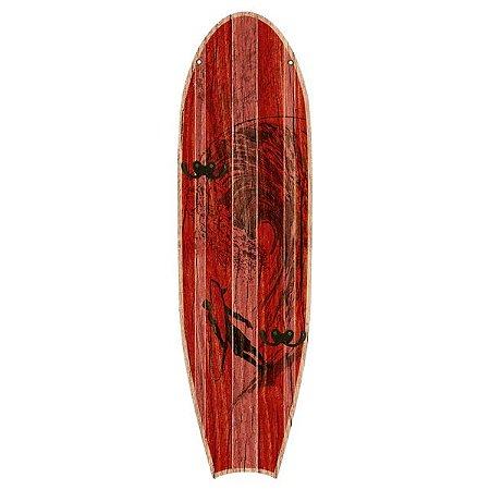 Cabideiro Prancha de Surf Vermelha em Madeira