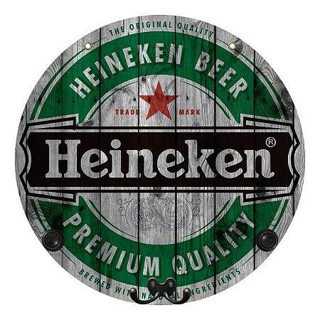 Placa Grande Heineken com Cabideiro