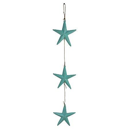 Pendente Estrela Azul Claro