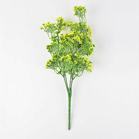 Flor Permanente Verde e Amarela