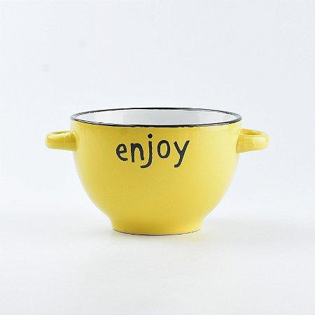 "Bowl Colors ""Enjoy"" em Cerâmica"