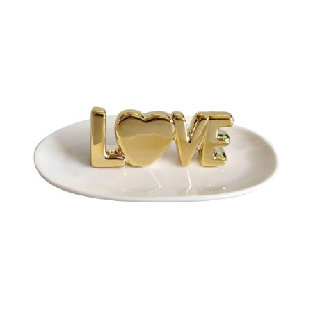 Porta Anéis Love Gold