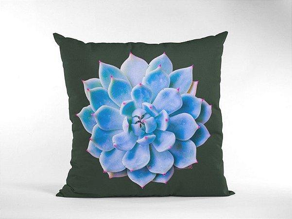 Capa Náutica Suculenta Azul para Almofada