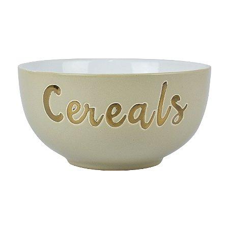 Bowl Cereals Bege em Cerâmica