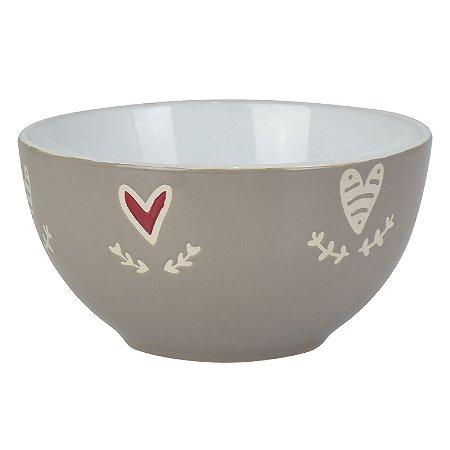 Bowl Heart Cinza