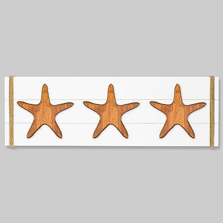 Quadro Branco com Estrelas em Madeira
