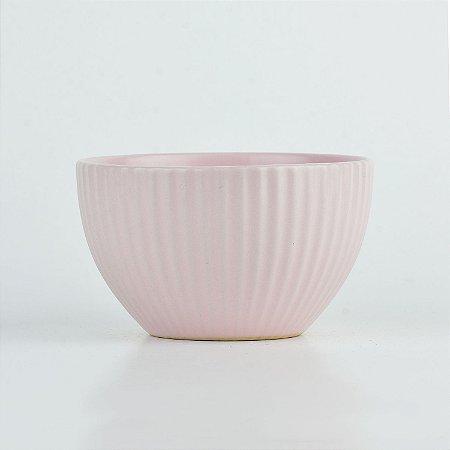 Bowl Lines Rosa em Cerâmica