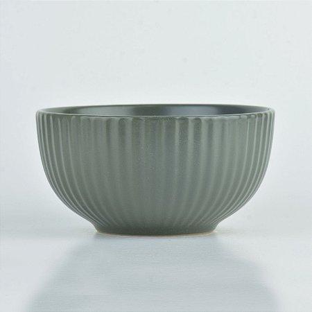 Tigela Texturizada Cinza em Cerâmica