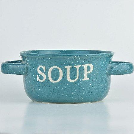 Tigela Soup Verde em Cerâmica
