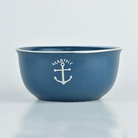 Tigela Náutica Azul Âncora em Cerâmica