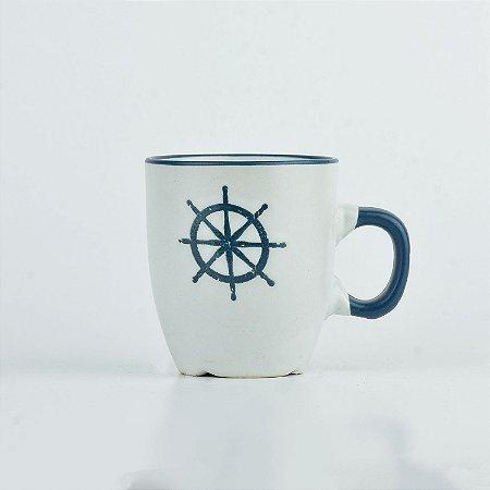 Caneca Oceano Branca Timão P em Cerâmica