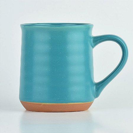 Caneca Terracota Azul em Cerâmica