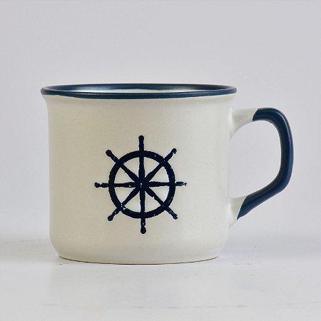 Caneca Ocean Branca Timão em Cerâmica