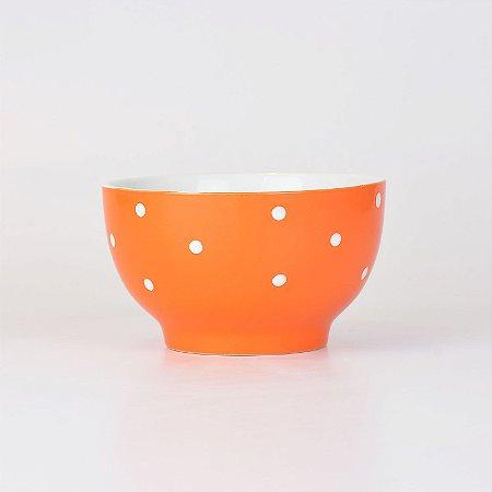 Bowl Laranja Pontilhado em Cerâmica
