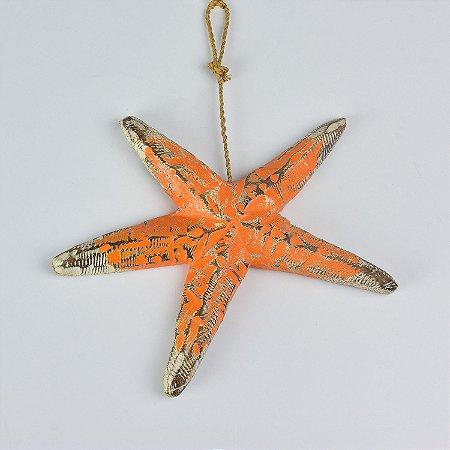 Estrela do Mar Rústica Laranja