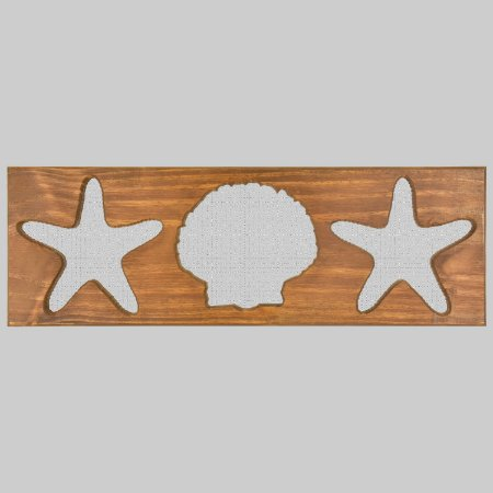 Quadro Estrelas e Concha com Grade Branca