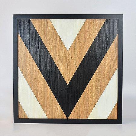 Quadro Quilt Geométrico Triângulo Branco