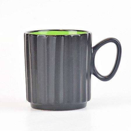 Caneca Black Verde em Cerâmica