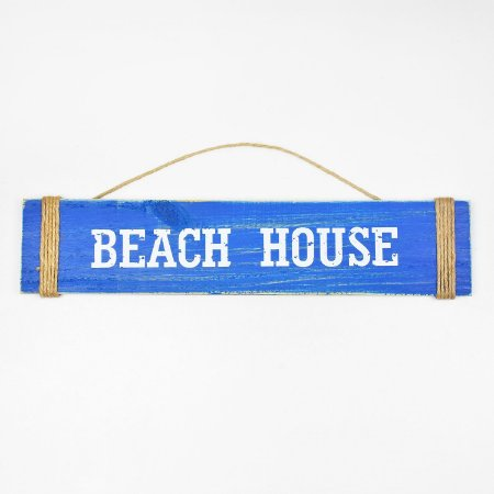 Placa Beach House Azul Escuro