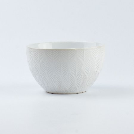 Bowl Lines Branco em Cerâmica
