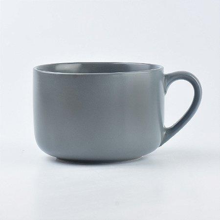 Bowl Caneca Cinza Escuro em Cerâmica