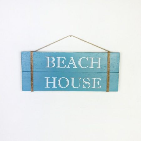 Placa Beach House Azul Claro