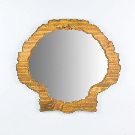 Espelho Concha Marrom