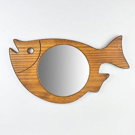 Espelho Peixe Marrom
