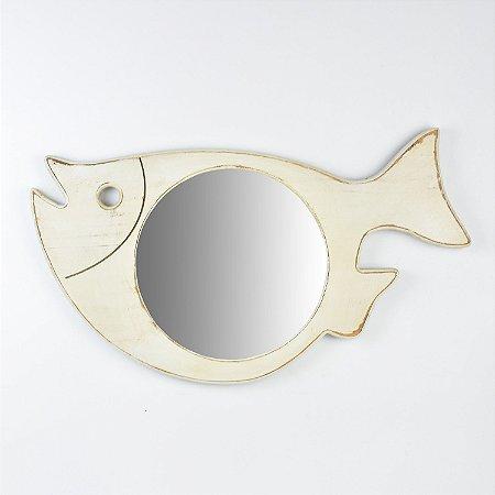 Espelho Peixe Branco