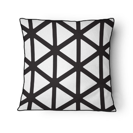 Almofada Geometric Black White
