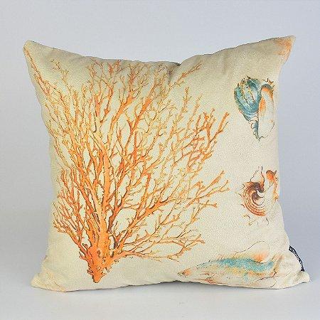 Almofada Náutica Coral com Peixes