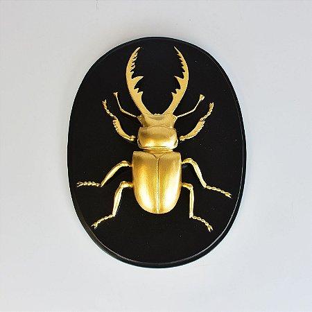 Quadro Escaravelho Dourado A