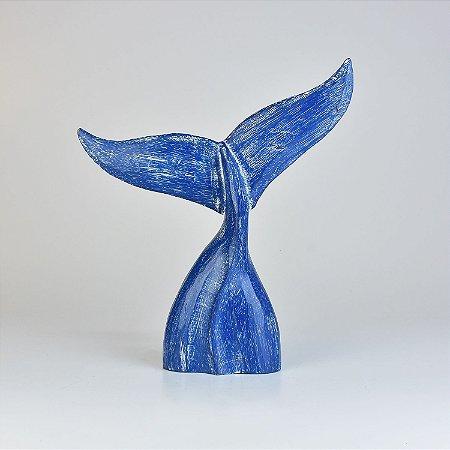 Enfeite Cauda de Baleia Azul M