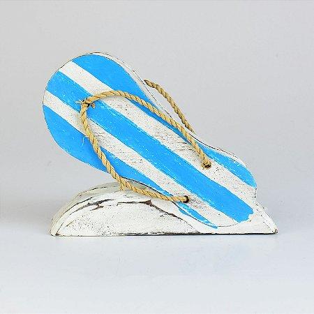Porta Guardanapo Chinelo Azul Claro