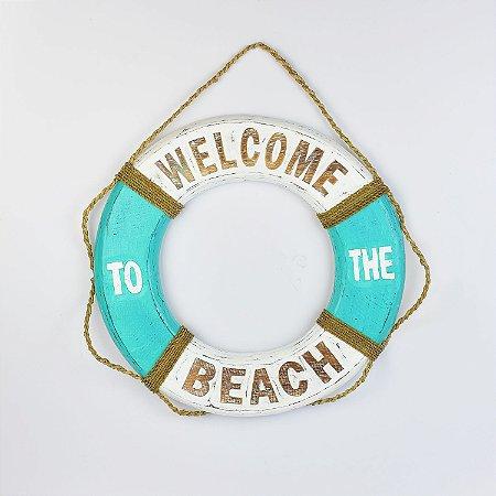 Bóia Welcome Beach Branco e Azul Tiffany M