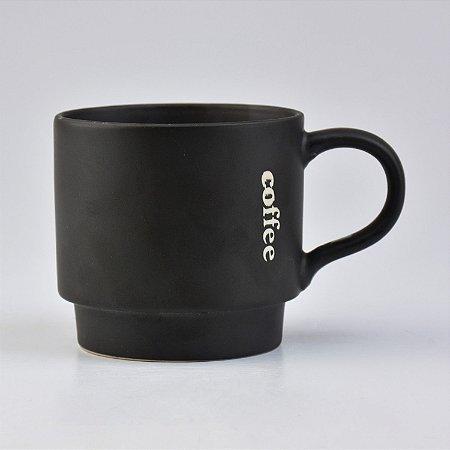 Caneca Modern Coffee Preto
