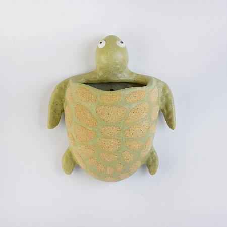 Vaso de Parede Tartaruga Verde