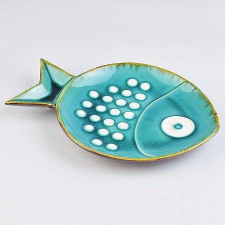 Petisqueira Peixe Marbles G em Cerâmica