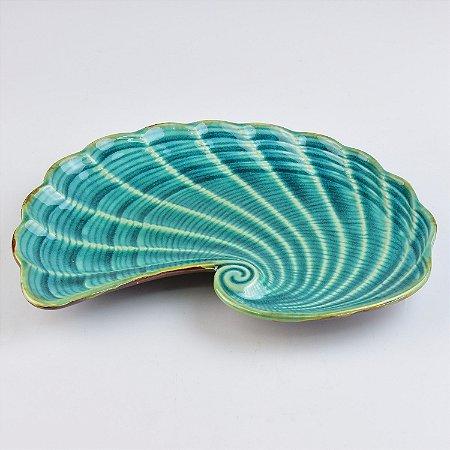 Petisqueira Concha Azul G em Cerâmica
