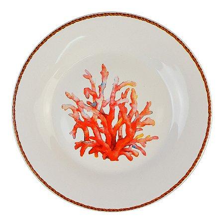 Prato de Sobremesa Náutico Coral Laranja
