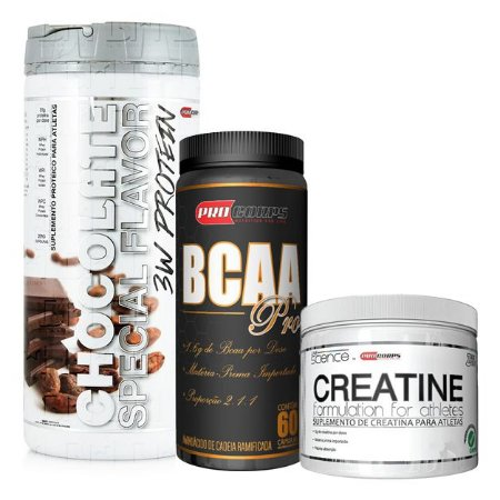 Kit Whey + Creatina + BCAA