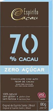 Chocolate 70% Zero / Espirito Cacau