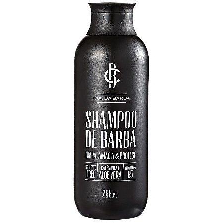 Shampoo para Barba Sem Sal - Sem Sulfato 200ml CIA. DA BARBA