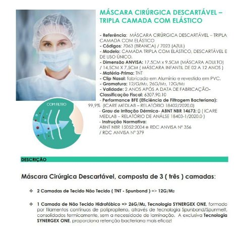 Kit 100 Máscara Respiratória Tripla Anvisa Infantil E Adulto