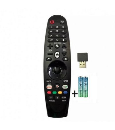 Controle Smart Magic 4k Uj6565 Uj6585 6525 Sem Voz +pilha