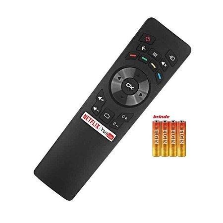Controle Remoto Smart TV Multilaser TL002 TL004 TL008 +pilha