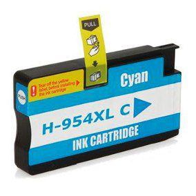 Cartucho Compatível HP 954 954XL L0s62ab Cyan Pro 7740 8710 8720 8740 8210 8716 8725 8700 25Ml