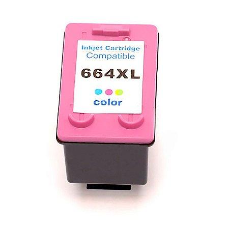 Cartucho Compativel Hp 664xl Color F6v30ab HP Deskjet 1115 2136 3636 4536 3635 3776 3788 4676 12ml